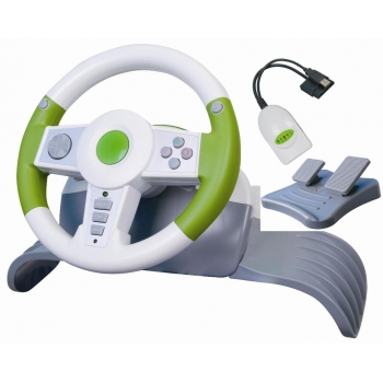 Wireless Game Steering Driving Wheel for PC/PS2/PS3/XBOX360-4in1