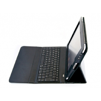Foldable iPad Leather Case with Built-in Bluetooth Keyboard
