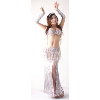 Fashional BELLY DANCE COSTUME-Arm sleeve+36B bra+skirt