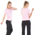 Yoga Casual Workout Clothes Summer Suits(Edge waves Rope Short sleeve T-Shirt+Drawstring Pants)