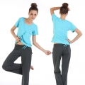 Yoga Casual Workout Clothes Winter Home Suits(Butterfly cardigan Short sleeve T-Shirt+Pants)