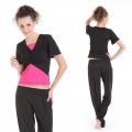 Korean fashion Yoga Casual Workout Summer Suits(Butterfly cardigan Short sleeve T-Shirt+Harem Lantern Pants)