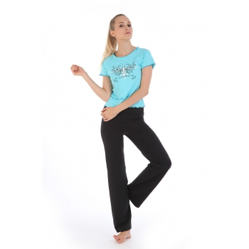 Yoga Casual Workout Clothes Winter Suits(Korean fashion&Edge waves Short-sleeved T-Shirt+Pants)